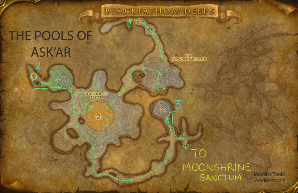Maps For Tanks: Blackfathom Deeps, The Pools of Ask'ar