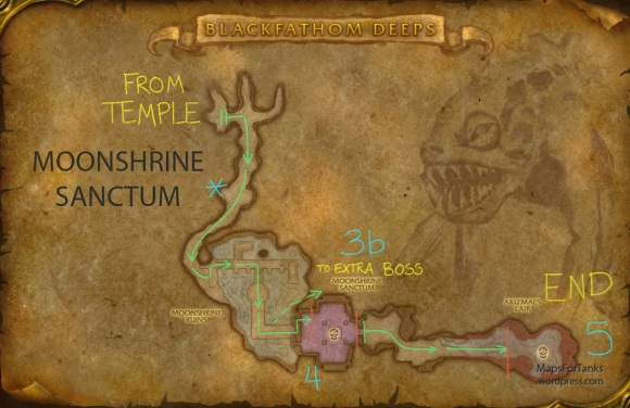 Maps For Tanks: Blackfathom Deeps, Moonshrine Sanctum