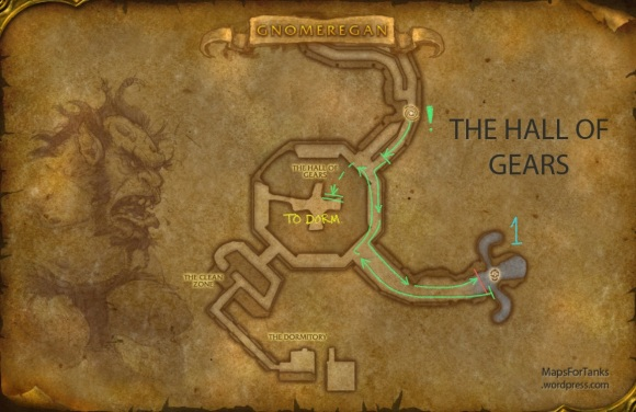 Maps For Tank: Gnomeregan, The Hall of Gears