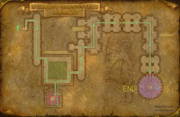 Maps For Tank: Scarlet Monastery, The Library