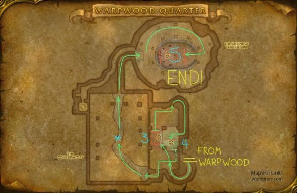 Maps For Tanks: Dire Maul, Shrine of Eldretharr