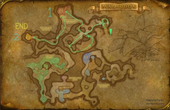Maps For Tanks: Maraudon, Foulspore Cavern