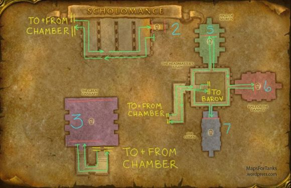 Maps For Tank: Scholomance, The Headmaster's Study
