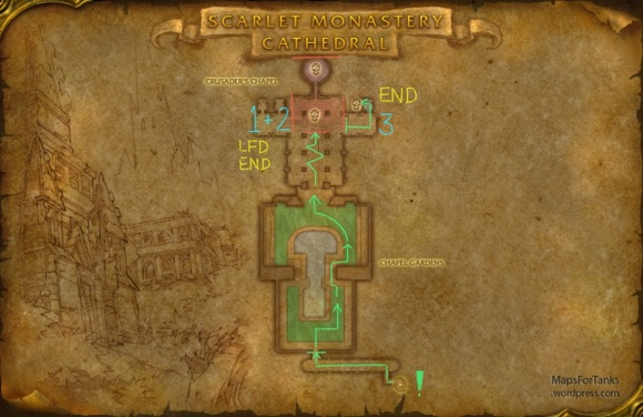 Maps For Tanks: Scarlet Monastery, The Cathedral
