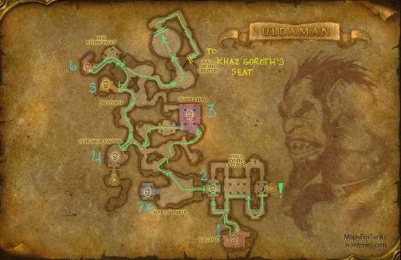 Maps For Tank: Uldaman, Hall of the Keepers