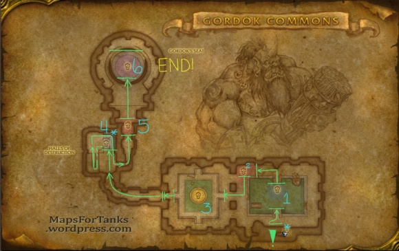 Dire Maul North Gordok Commons Map (c) Maps For Tanks