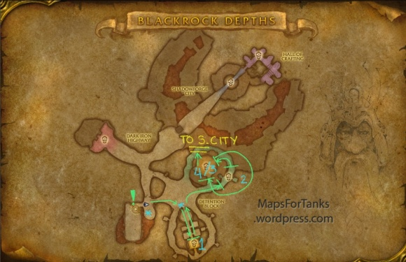 Maps For Tanks: Blackrock Depths, Detention Block
