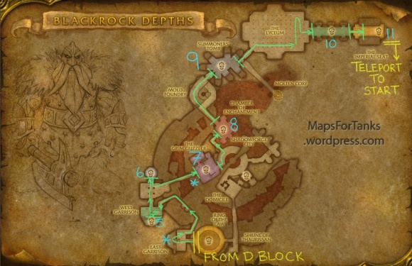 Maps For Tanks: Blackrock Depths, Shadowforge City (Part 1)