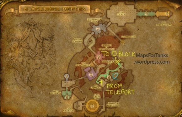 Maps For Tanks: Blackrock Depths, Detention Block (Part 2)