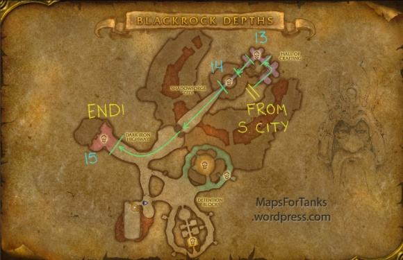 Maps For Tanks: Blackrock Depths, Shadowforge Citya (Part 2)